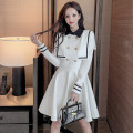Dress Spring 2021 White, black S,M,L,XL Mid length dress singleton  Long sleeves commute Polo collar High waist Solid color Socket A-line skirt routine Others 25-29 years old Type A Tagkita / she and others Button LK211-0401 81% (inclusive) - 90% (inclusive) other polyester fiber