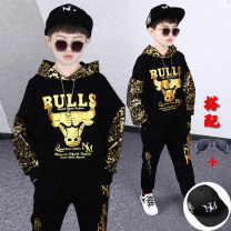 suit 110cm 120cm 130cm 140cm 150cm 160cm 170cm male spring and autumn Korean version Long sleeve + pants 2 pieces Thin money There are models in the real shooting Socket No detachable cap Cartoon animation cotton friend Giving presents at school Class B Cotton 95% polyamide (nylon) 5% Spring 2021