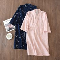 Nightgown / bathrobe Other / other lovers 165(M),170(L) Thin money Simplicity cotton spring More than 95% Knitted cotton fabric Plants and flowers printing