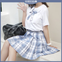skirt Summer 2020 S,M,L,XL Skirt length 42, skirt length 45 Short skirt Versatile Natural waist Pleated skirt lattice Type A 18-24 years old unknown More than 95% other Other / other polyester fiber Original lattice