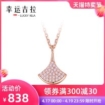 Necklace Alloy / silver / gold 1001-3000 yuan brand new Japan and South Korea female goods in stock yes Fresh out of the oven 21cm (inclusive) - 50cm (inclusive) no Below 10 cm other Cross chain