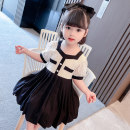 Dress Lace Skirt Black female Dalio 80cm 90cm 100cm 110cm 120cm 130cm Other 100% summer Korean version Short sleeve Solid color cotton Splicing style Summer 2021 12 months, 6 months, 9 months, 18 months, 2 years, 3 years, 4 years, 5 years, 6 years Chinese Mainland Zhejiang Province Huzhou City