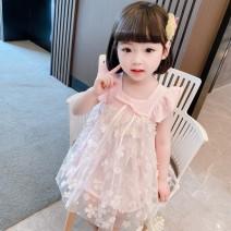 Dress 3D Flower Dress Green 3D Flower Dress Pink female Dalio 80cm 90cm 100cm 110cm 120cm 130cm Other 100% summer Korean version Short sleeve flower cotton Cake skirt Summer 2021 12 months, 6 months, 9 months, 18 months, 2 years, 3 years, 4 years, 5 years, 6 years Chinese Mainland Zhejiang Province