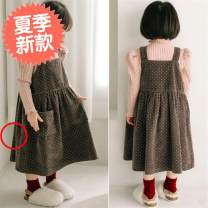 Dress yellow female Other / other 13(130cm) Other 100% winter Korean version Strapless skirt Dot other other Class A 2, 3, 4, 5, 6, 7, 8, 9, 10, 11