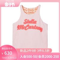 Vest sling Pink Sleeveless 6Y 8Y 10Y 12Y 14Y 14+ summer Stella McCartney female Simplicity letter Crew neck nothing Polyamide fiber (nylon) 85% polyurethane elastic fiber (spandex) 15% 602636SQK54 Spring 2021