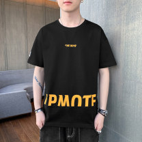 T-shirt Youth fashion A609-1606 black, a609-1606 yellow, a609-1606 dark blue, a609-1606 light blue routine M,L,XL,2XL,3XL,4XL Home HLA / Ji Hailan's home Short sleeve Crew neck easy daily Four seasons A609-1606 Polyester 100% youth tide 2021 other Hailan house UNIQLO Jack Jones other