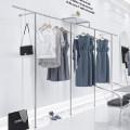 Clothing display rack 250cm long 300cm long 350cm long 400cm custom size clothing stainless steel GB197 A life full of money