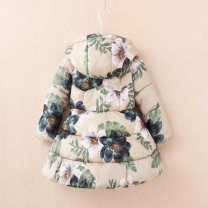 Cotton padded jacket female No detachable cap other Other / other Tibetan antique Dahua thickened cotton padded clothes, beige antique Dahua thickened cotton padded clothes thickening Zipper shirt Europe and America Broken flowers other other Three, four, five, six, seven, eight