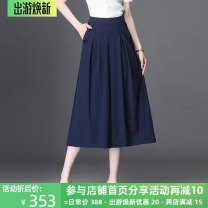 Casual pants Black, blue Summer 2021 Wide leg pants High waist commute Thin money 25-29 years old 91% (inclusive) - 95% (inclusive) Other / other Korean version