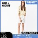 skirt Summer of 2019 34 36 38 Whx / white Short skirt Natural waist ZVXSKCT0301FC More than 95% ZADIG & VOLTAIRE cotton Cotton 98% polyurethane elastic fiber (spandex) 2%