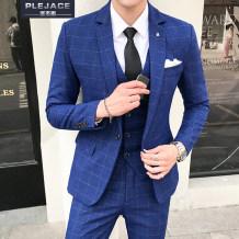 Suit Business gentleman Plejace / Borges Light blue (4XL) three piece suit (suit, trousers, vest) routine BJSXFTZ9293 Polyester 68% viscose 29% polyurethane elastic 3% Summer of 2018 Pure e-commerce (online only)