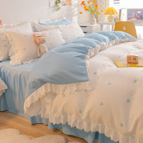 Bedding Set / four piece set / multi piece set Polyester (polyester fiber) other heart-shaped 128x68 Mi Xike Polyester (polyester fiber) 4 pieces 40 Sheet type, fitted sheet type, bed skirt type Qualified products Princess style Reactive Print  Thermal storage other