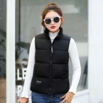 Vest Winter of 2018 Black, black, off white, off white, caramel M 85 to 103 kg, l 103 to 120 kg, XL 120 to 133 kg, 2XL 132 to 145 kg have cash less than that is registered in the accounts stand collar Versatile Solid color zipper other 25-29 years old 81% (inclusive) - 90% (inclusive) cotton cotton