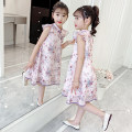Dress Pink female Hanimo 110cm 120cm 130cm 140cm 150cm 160cm Other 100% summer Chinese style other A-line skirt Class B Summer 2021 5 years old, 6 years old, 7 years old, 8 years old, 9 years old, 10 years old, 11 years old, 12 years old, 13 years old, 14 years old