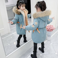 Cotton padded jacket female No detachable cap other Other / other Orange, blue 110cm,120cm,130cm,140cm,150cm,160cm thickening Zipper shirt Korean version There are models in the real shooting Broken flowers other Class B other Cotton liner TX-66921