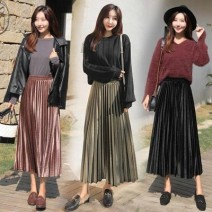 skirt Spring of 2018 S 80-95, m 95-105, l 105-115, XL 115-130, 2XL 130-145, 3XL 145-160 Champagne, black, peacock blue, olive green, silver grey
