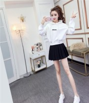 Dress Spring 2020 Suit, top S,M,L Miniskirt Two piece set Long sleeves commute Hood High waist Solid color Socket Princess Dress Princess sleeve Others 18-24 years old Type A Other / other Korean version 81% (inclusive) - 90% (inclusive) other