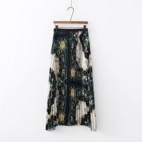 skirt Autumn of 2018 S,M,L Decor 1577 Versatile High waist Pleated skirt Decor