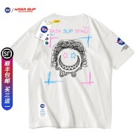 T-shirt Youth fashion 888152 white (black map) 888152 black (white map) 888152 white (color map) 888152 black (color map) routine S M L XL 2XL 3XL Misty Short sleeve Crew neck easy Other leisure summer Cotton 100% teenagers Off shoulder sleeve tide Cotton wool Summer 2021 Alphanumeric printing cotton