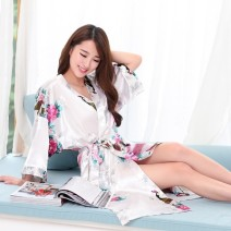 Nightgown / bathrobe Other / other female S 90CM,M 95CM,L 110CM White, sapphire, pink, black, lake blue, rose red, light purple, deep purple, scarlet, crayon, magenta, sky blue, aqua green, champagne gold, aqua blue ultrathin sexy summer More than 95% Seldingham Plants and flowers youth One piece