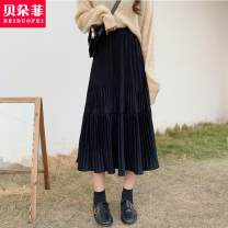 skirt Autumn 2020 Average size Off white, elegant black, coffee [657], black [657], coffee [654], black [654] Mid length dress commute High waist A-line skirt Solid color 25-29 years old 20SH2169 More than 95% Other / other other Korean version