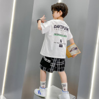 suit Mairuibao White black 120cm 130cm 140cm 150cm 160cm 170cm male summer leisure time Short sleeve + pants 2 pieces Thin money There are models in the real shooting Socket nothing Cartoon animation blending children Giving presents at school MRB33-288 Class B Other 100% Summer 2021 Chinese Mainland