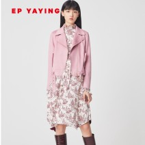 short coat Autumn of 2019 2/S,3/M,4/L,5/XL,6/XXL Pink Long sleeves routine routine singleton  Self cultivation routine zipper Solid color 30-34 years old Elegant.prosper / YAYING 81% (inclusive) - 90% (inclusive) EGEAA1202B polyester fiber