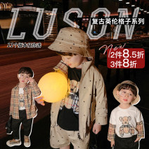 suit luson male spring and autumn leisure time Long sleeve + pants 4 pieces or more routine There are models in the real shooting Zipper shirt nothing Cartoon animation other Other 100% 12 months, 18 months, 2 years old, 3 years old, 4 years old, 5 years old, 6 years old, 7 years old