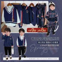 suit luson 80, 90, 100, 110, 120, 130, 140 male winter Britain Long sleeve + pants 4 pieces or more routine There are models in the real shooting Socket nothing Solid color other MHC1113 Other 100% 12 months, 18 months, 2 years old, 3 years old, 4 years old, 5 years old, 6 years old, 7 years old