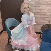Lolita / soft girl / dress Mist and rain fan flowers Pink S. M, l, inside goods in stock