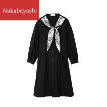 Women's large Winter 2020 black 1XL 2XL 3XL 4XL Solid color 031L33k1140 nakabayashi Triacetate fiber (triacetate fiber) 100%