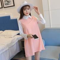 Dress Winter 2016 Pink, brown M,L,XL,2XL Long sleeves commute Solid color Socket Other / other