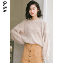 sweater Winter 2020 S M L Apricot yellow pink Long sleeves Socket singleton  Regular other 95% and above Crew neck Regular commute routine Solid color Straight cylinder Regular wool Keep warm and warm 18-24 years old Qingjiaona QJN6602 Other 100% Pure e-commerce (online only)