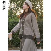 short coat Winter 2020 S M L Grey brown Long sleeves routine routine singleton  Straight cylinder commute routine V-neck Single breasted other 18-24 years old Qingjiaona 96% and above QJN9880 other Other 100% Pure e-commerce (online only)