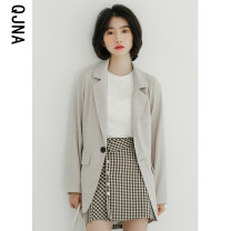 suit Winter 2020 White black light grey S M L Long sleeves routine easy tailored collar A button commute routine Solid color QJN2254 18-24 years old 96% and above other Qingjiaona Other 100% Pure e-commerce (online only)