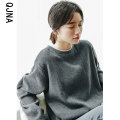 Sweater / sweater Winter 2020 Grey black S M L Long sleeves routine Socket singleton  routine Crew neck easy commute routine Solid color 18-24 years old 96% and above Qingjiaona Korean version other QJN1335 Other 100% Pure e-commerce (online only)