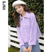 short coat Winter 2020 S M L Yellow purple Long sleeves have cash less than that is registered in the accounts routine singleton  Straight cylinder commute bishop sleeve Polo collar Single breasted Solid color 18-24 years old Qingjiaona 96% and above QJN9471 other Other 100%