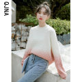 sweater Winter 2020 S M L White + pink orange white + grass green Long sleeves Socket singleton  Regular other 95% and above Crew neck thickening Sweet routine other Straight cylinder Keep warm and warm 18-24 years old Qingjiaona QJN3121 Other 100% Pure e-commerce (online only)