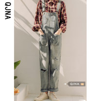 Jeans Spring 2021 Picture color S M L trousers High waist rompers routine 18-24 years old light colour QJN1830 Qingjiaona Other 100% Pure e-commerce (online only)