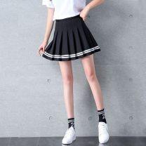 skirt Summer 2020 S. M, l, XL, XXL, XS (small) Black ribbon (with lining), Navy ribbon (with lining), white ribbon (with lining), pink ribbon (with lining), black ribbon (with lining), white ribbon (with lining), Navy ribbon (with lining) Short skirt Sweet High waist A-line skirt EB2A6E06