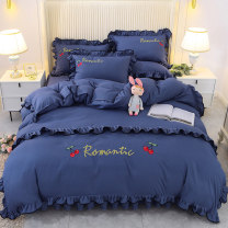 Bedding Set / four piece set / multi piece set spandex Quilting Plants and flowers 128x68 Other / other cotton 4 pieces 40 1.8 *. 2.2m bed [quilt cover 200 * 230cm], 1.8 * 2.0m bed [quilt cover 200 * 230cm], 2.0 * 2.2m bed [quilt cover 200 * 230cm], 1.5 * 2.0m bed [quilt cover 200 * 230cm] Bed skirt