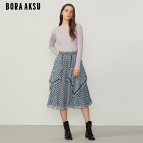 skirt Spring 2021 36/S 38/M 40/L 42/XL Variegated longuette commute High waist A-line skirt Dot Type A 25-29 years old B10C72280 More than 95% Chiffon BORA AKSU polyester fiber Splicing Polyester 100% Same model in shopping mall (sold online and offline)