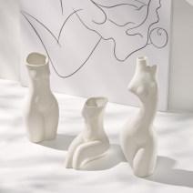 vase Ceramics Nordic style Table Vase Shumen 00100  Fujian Province Living room bedroom desktop bedside home Festival company study dining room TV cabinet porch Bogu rack model room B & B Quanzhou City Chinese Mainland Free combination
