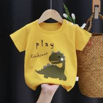 T-shirt Other / other 73cm,80cm,90cm,100cm,110cm,120cm,130cm currency summer Short sleeve Crew neck Korean version There are models in the real shooting cotton Cartoon animation Class A hygroscopic and sweat releasing 10 years old Chinese Mainland
