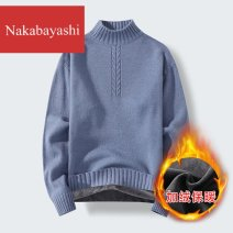 T-shirt / sweater nakabayashi other Khaki black blue bean green M L XL 2XL 3XL Socket Half high collar Long sleeves A166M882_ 58xJ9 winter easy 2020 Other 100% leisure time American leisure teenagers other Winter 2020 No iron treatment other