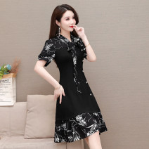 Dress Summer 2021 Picture color L XL 2XL 3XL 4XL 5XL Mid length dress singleton  Short sleeve commute Decor Others 35-39 years old Type A Mu Yixin Korean version printing XBH8026 More than 95% other Other 100% Pure e-commerce (online only)