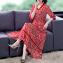Dress Summer 2021 Decor M L XL 2XL 3XL Mid length dress three quarter sleeve V-neck other other 40-49 years old Mu Yixin NEJ8173 More than 95% other Other 100% Pure e-commerce (online only)