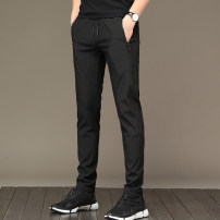 Casual pants Others Youth fashion black M [recommended 95-105 kg], l [recommended 105-120 kg], XL [recommended 120-135 kg], 2XL [recommended 135-150 kg], 3XL [recommended 150-165 kg], 4XL [recommended 165-180 kg], 5XL [recommended 180-200 kg] trousers Other leisure Straight cylinder