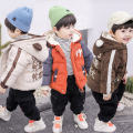 Plain coat Princess Tangyi female winter Versatile There are models in the real shot thickening No detachable cap Cartoon animation corduroy Lapel MD cute cotton padded clothes Class C 3 months Chinese Mainland Brown, orange, beige