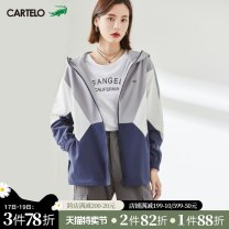 short coat Spring 2021 S M L grey Long sleeves routine routine singleton  easy routine Hood zipper Solid color 18-24 years old cartelo ladies 96% and above zipper C03790C polyester fiber Polyester 100%